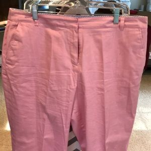 Pretty Pink casual cotton slacks. 97% cotton and 3